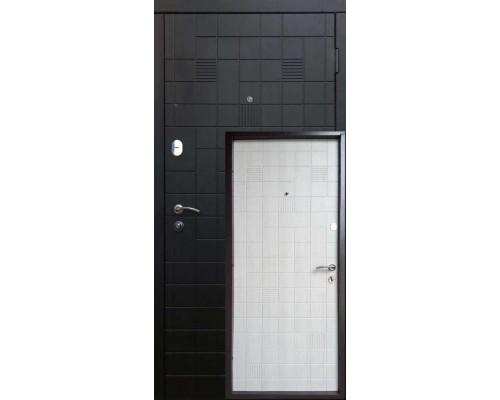 Входная дверь Каскад Черно/белый