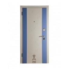 Дверь Берислав М-2 Примавера белый-голубой