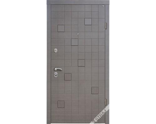 Входная дверь Каскад Серый 3D